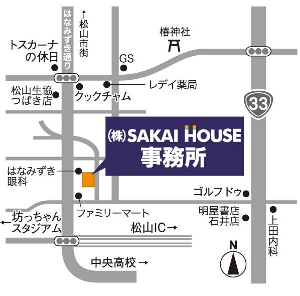 サカイハウス本社地図