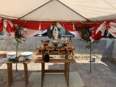 西石井2号地建売モデルハウス 地鎮祭