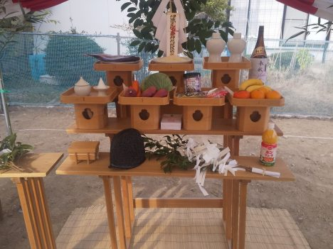 古川1号地建売モデルハウス地鎮祭